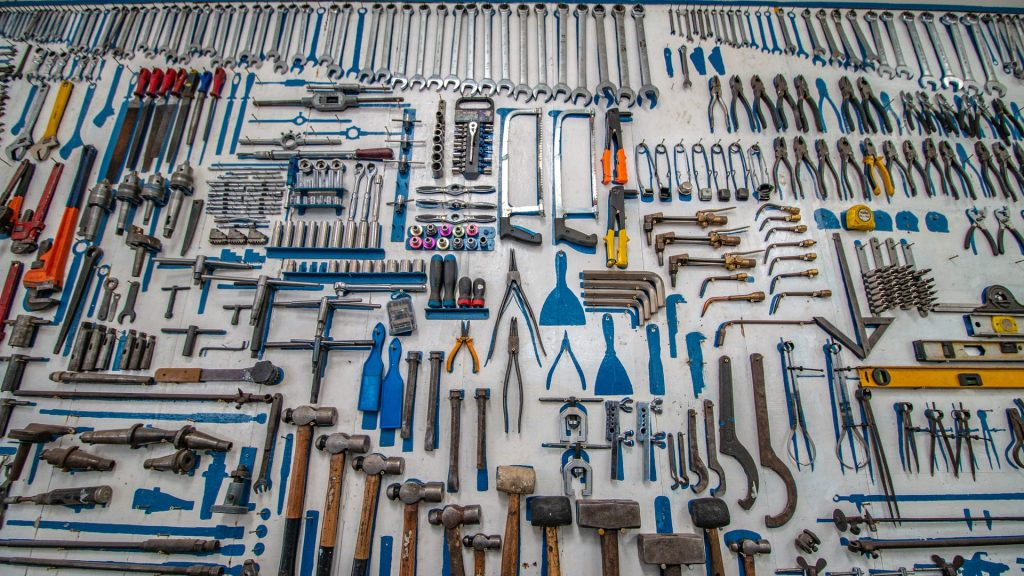 Hand tools in Demolition Project